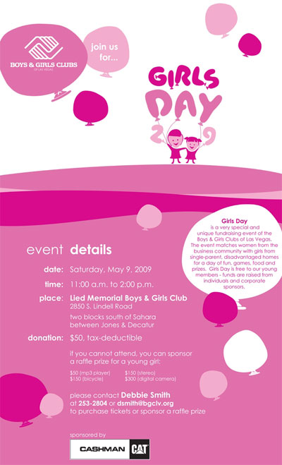 Come join us for Girls Day 2009!